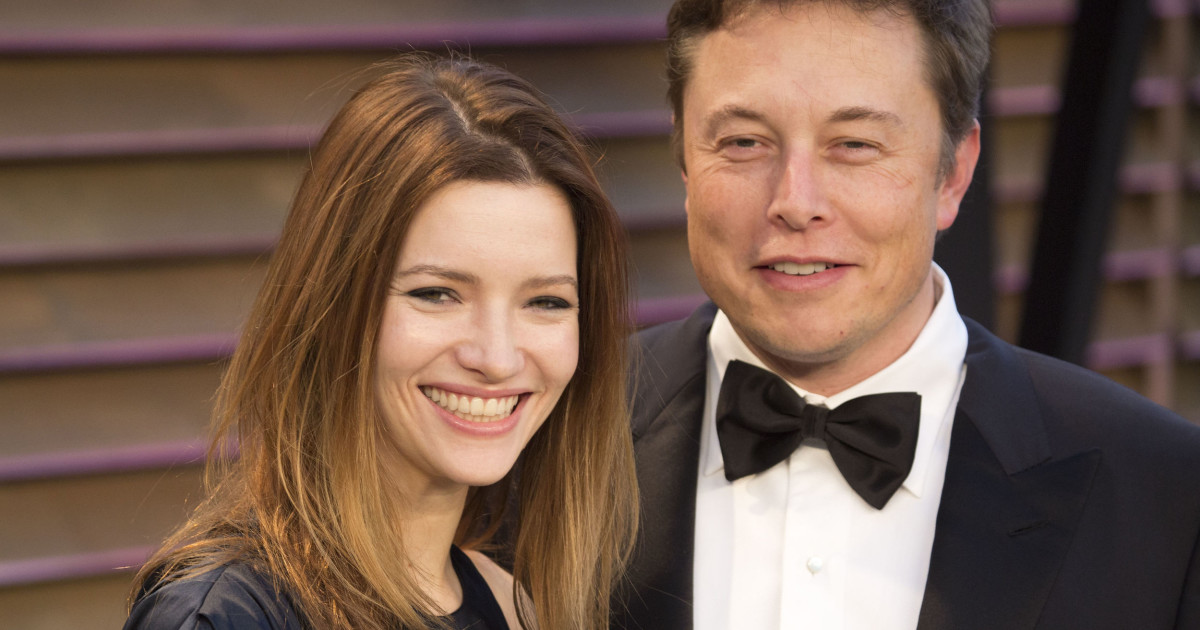 Elon Musk with a young woman