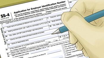 SS-4 - заявление на получение EIN (идентификационного номера работодателя)
