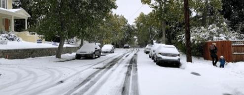 «Исторический» снегопад в Монтане