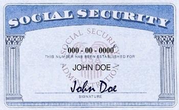 SSN - номер социального страхования США