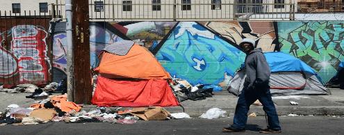 Дональд Трамп против бездомных